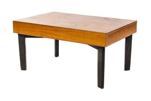 * A George Nelson Primavera and Part Ebonized Low Table, for Herman Miller, Height 18 1/4 x width 36 1/4 x depth 24 inches.