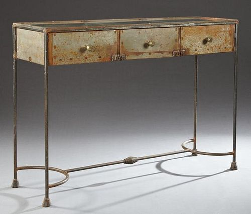 Steel Shop Display Counter, early 20th c., with a