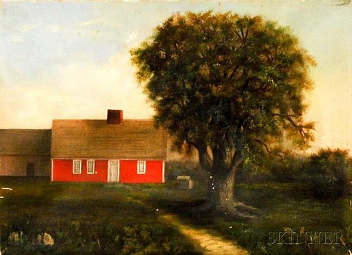 American School, 19th/20th Century       Portrait of a Red House.