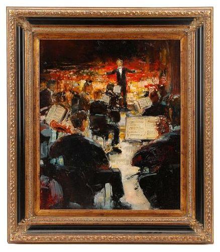"""Stephen Shortridge, """"Crescendo"""", Oil on Canvas"""
