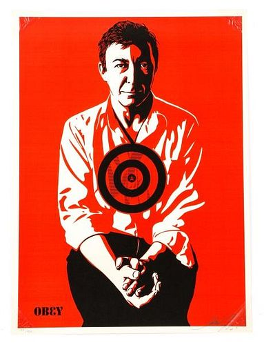 """Shepard Fairey, """"Jasper Johns"""", Silkscreen, 2009"""