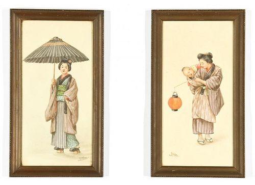 Tsutaya Ryuko (Japanese, 1868-1933) Two Works