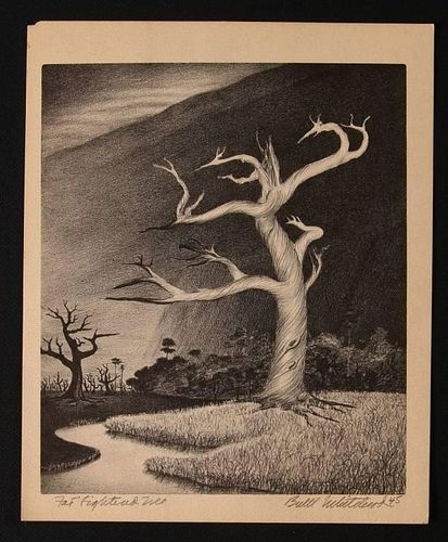 BUELL WHITEHEAD (1919-1993) PENCIL SIGNED LITHOGRAPH
