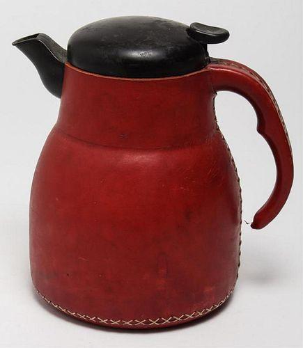 Sol y Luna Stitched Saddle Leather Coffee Pot