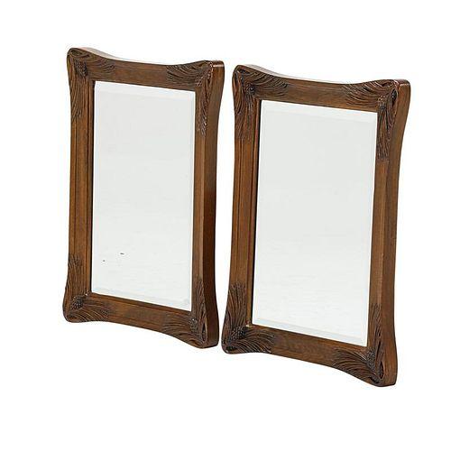 LOUIS MAJORELLE Pair of mirrors