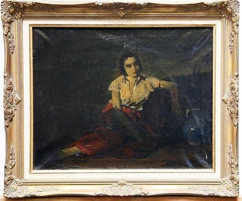 Szule, Peter,  Hungarian 1886-1944,(seated girl),