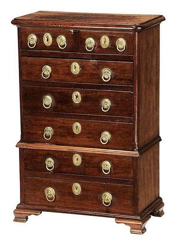 George II Miniature Chest on Chest