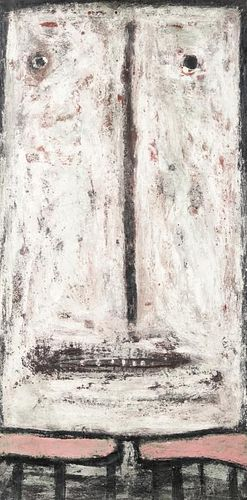 """Terry Turrell (b. 1946) """"Marble"""", Encaustic Painting"""