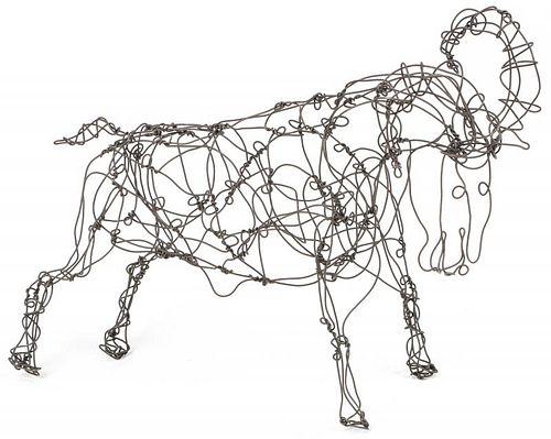 Thai Varick (1941-2001) Ram Wire Sculpture