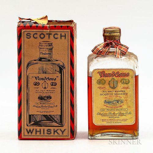Vendome All Malt Blended Scotch Whisky, 1 4/5 quart bottle (oc)