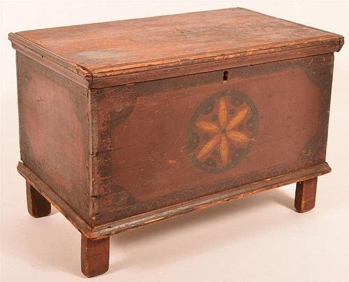 PA Paint Decorated Miniature Blanket Chest.