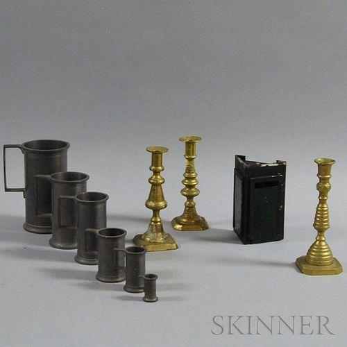 Ten Metal Decorative Items