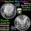 ***Auction Highlight*** 1879-s Morgan Dollar $1 Graded ms65+ pl By SEGS (fc)