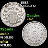 1883 Shield Nickel 5c Grades xf+